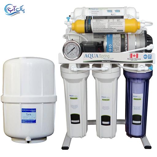 تصفیه آب خانگی آکوا اسپیرینگ 7 مرحله ای مدل RO-7